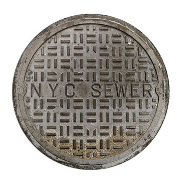 Lovely Funny Door Mats Sewer Cover Welcome Doormat NYC Sewer 2 Feet Round Floor Mat  | EBay