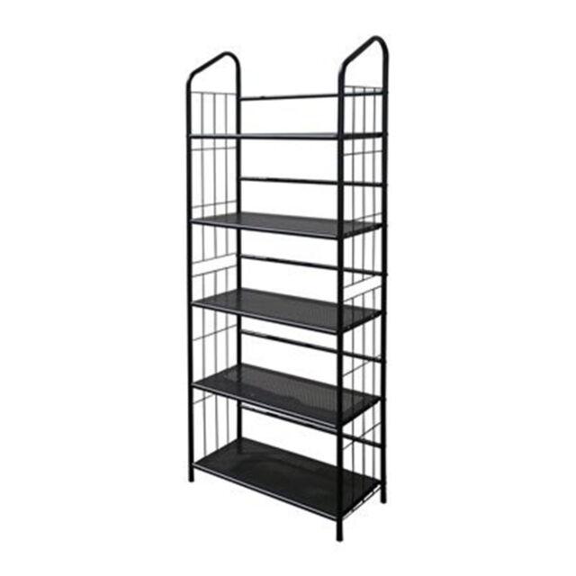 Black Metal Outdoor Patio Plant Stand 5 Tier Shelf Unit | EBay