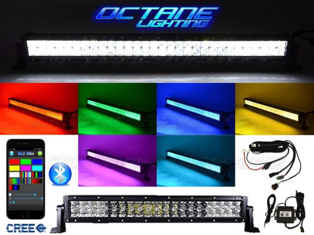 22 5d cree led rgb light bar multi color changing offroad flash 22 5d cree led rgb light bar multi color changing offroad flash bluetooth jeep aloadofball Images