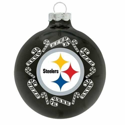 Pittsburgh Steelers NFL 3 Glass Ball Christmas Ornament by ...
