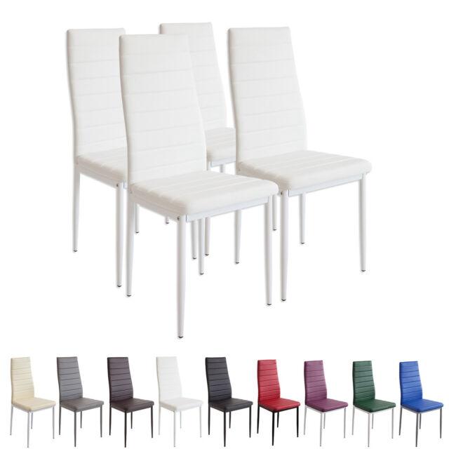 4 x Esszimmerstühle MILANO weiss Esszimmerstuhl Küchenstuhl Stuhl Stühle weiß