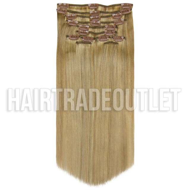 Luxury Clip In 100 Remy Human Hair Extensions Full Head P1016 20