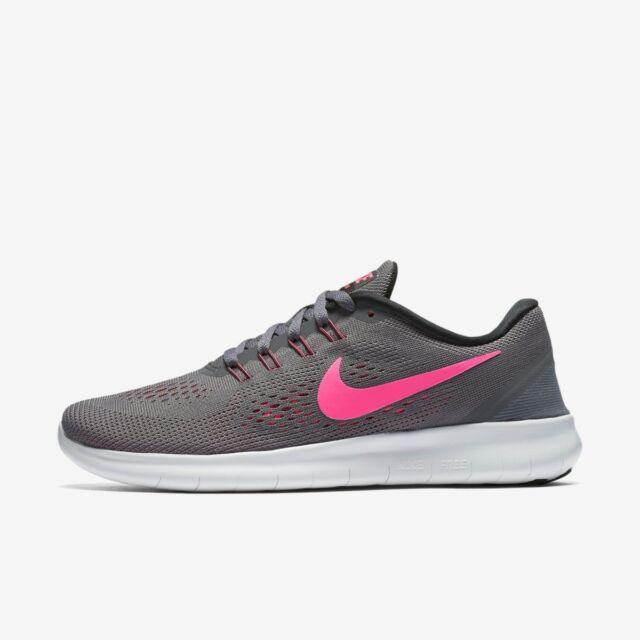 Nike da donna free run size 5 5.5 6 sportive da corsa grigio scuro NUOVO