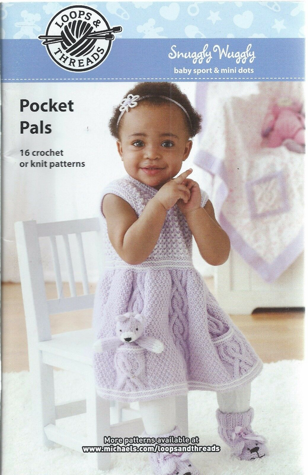 Pocket Pals 16 Crochet Knit Children Patterns Loops & Threads ...