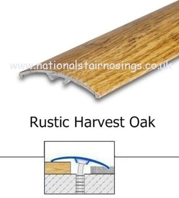 Rustic Oak Door Bar R& Transition Trim Strips Threshold Bars Strip  sc 1 st  eBay & Rustic Oak Door Bar Ramp Transition Trim Strips Threshold Bars Strip ...