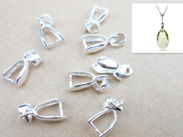 10x sterling silver finding bail connector bale pinch jewelry 10x sterling silver finding bail connector bale pinch jewelry clasp pendant mozeypictures Images