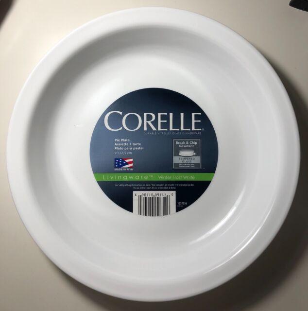 Corelle Livingware 9-Inch Deep Dish Pie Plate Winter Frost White & Corelle 1057556 Livingware Winter Frost White 9 Pie Plate | eBay
