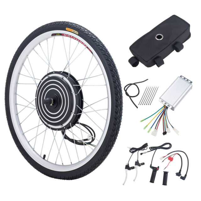 36v 500w electric bike conversion motor kit w front wheel for Fastest electric bike hub motor