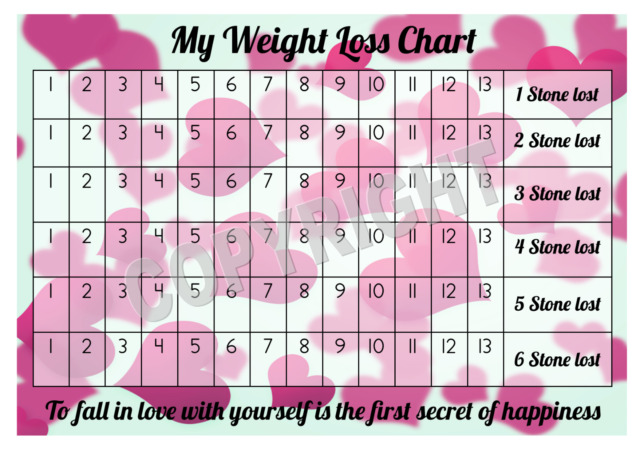 a4 weight loss chart - 6 stone