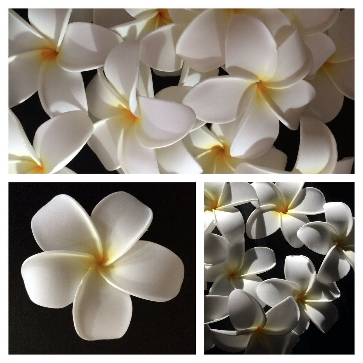 Hawaiian plumeria foam flower hair clip aloha white ebay picture 1 of 8 izmirmasajfo