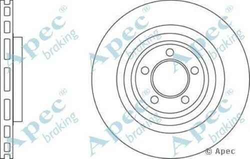 1x OE Quality Replacement Front Axle Apec Vented Brake Disc 5 Stud 326mm Single