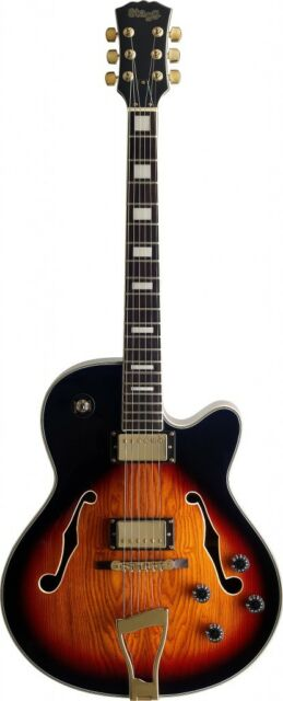 stagg a300 jazz semi acoustic electric guitar violinburst with cable gd0401 ebay. Black Bedroom Furniture Sets. Home Design Ideas