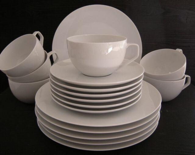 Rosenthal  TAC Gropius weiß Bauhaus Kaffeeset 18 tlg 6 Pers. Porzellan Set 18735