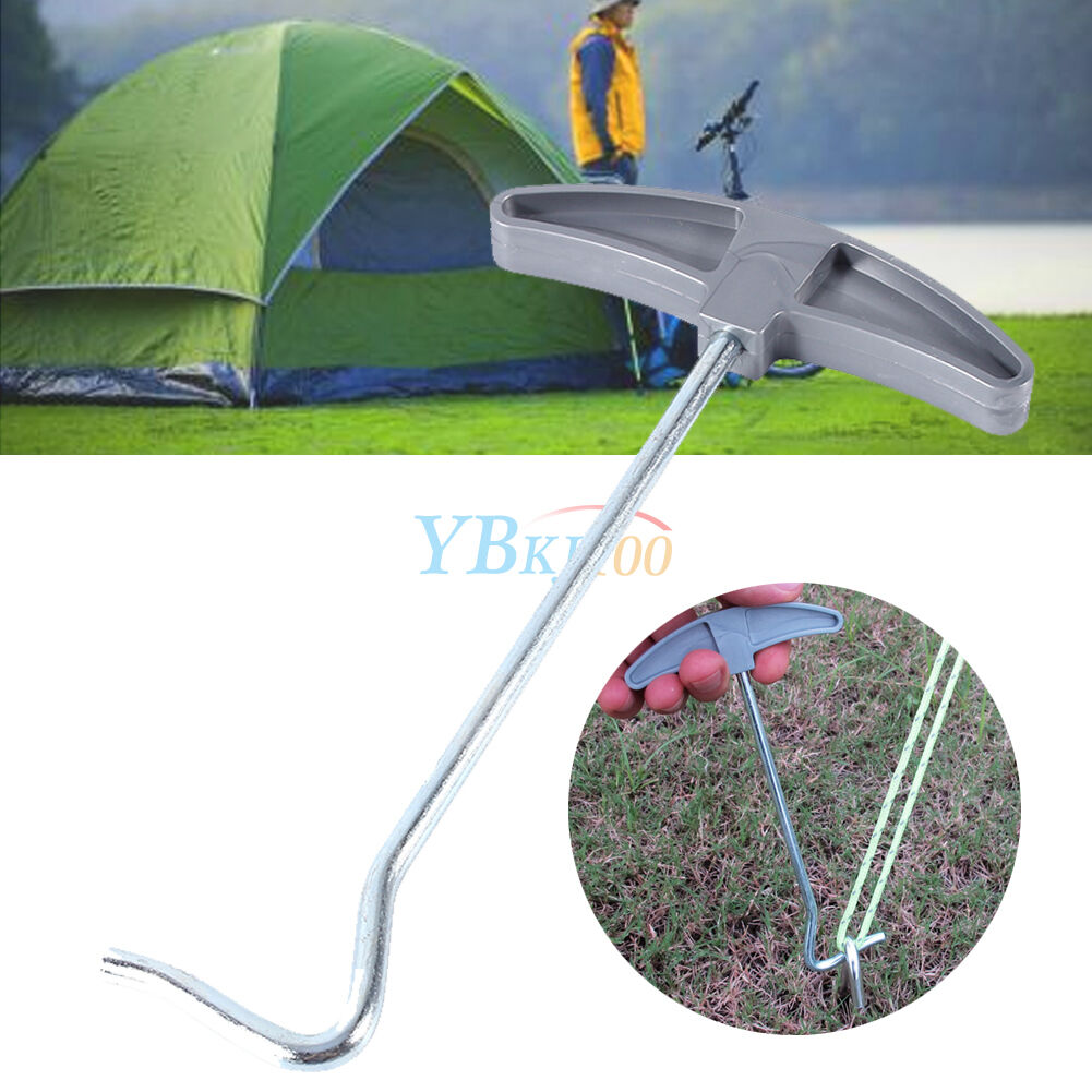 Picture 1 of 12 ...  sc 1 st  eBay & Tent Peg Puller Remover Awning Caravan Camping Extractor EDC Tool ...