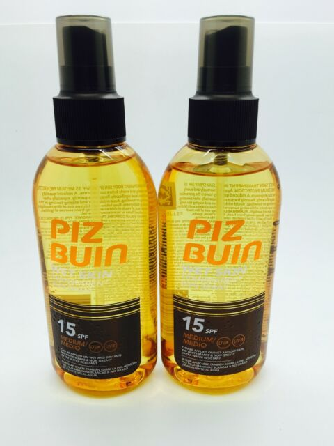 2 x 150ml Piz Buin Wet Skin Transparent Sun Spray SPF 15 - Medium Protection