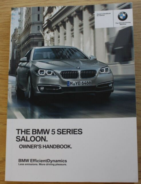 genuine bmw 5 series f10 owners manual book ebay rh ebay com 2007 bmw 550i owners manual bmw m550i owners manuals