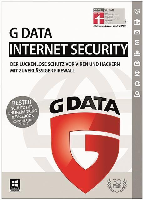 G DATA Internet Security 1 User 1 Jahr gültig für 2017/2018 Download