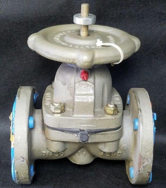 Crane resistoflex acid diaphragm valve saran lined 1 12 ebay crane resistoflex acid diaphragm valve saran lined 1 12 cast iron ccuart Image collections