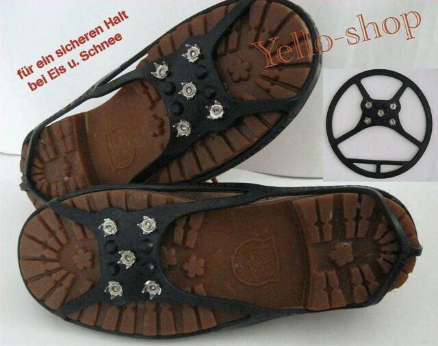 Eiskrallen Spikes für Schuhe sicher bei Eis und Schnee Größe M  oder L
