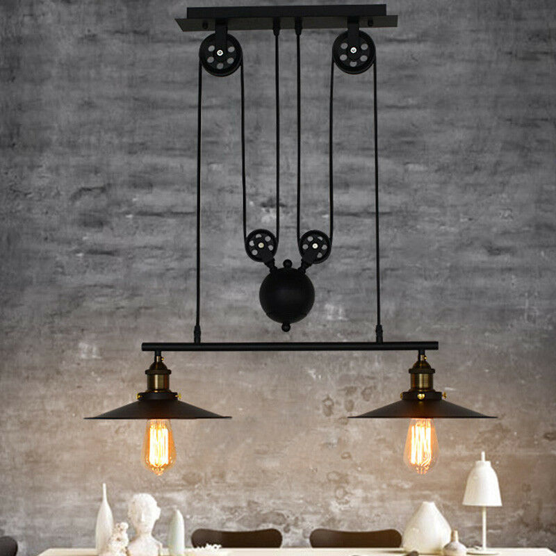 Industrial retro vintage hanging ceiling light pendant retractable picture 1 of 8 mozeypictures Image collections