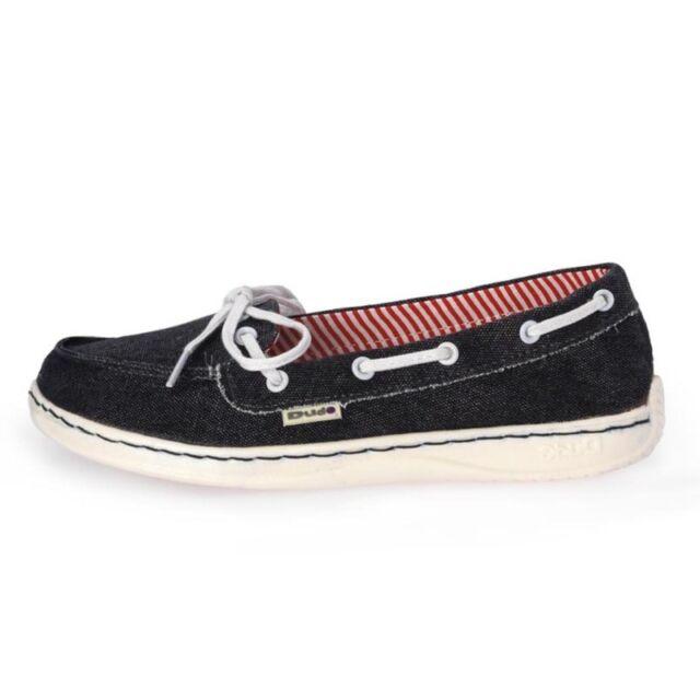 Dude Shoes Women's Moka Classic Navy Stonewash Canvas Deck Shoe UK5 / EU38 aRFTRTzl