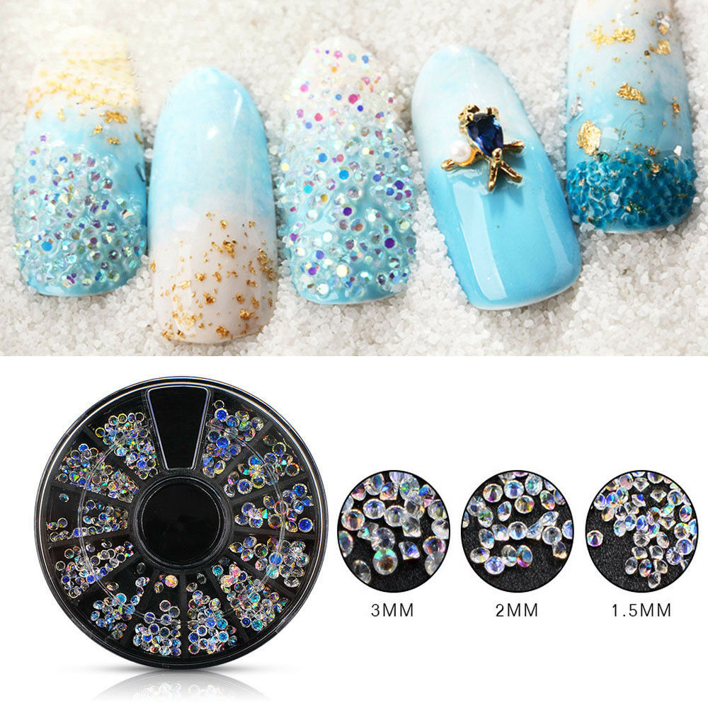 Nail Art Rhinestone Acrylic Crystal Case Micro 3d DIY Decorations ...