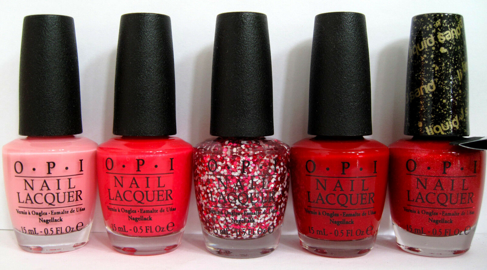 OPI Set 4 Nail Lacquer Couture De Minnie Runway Minnies Red Pink ...
