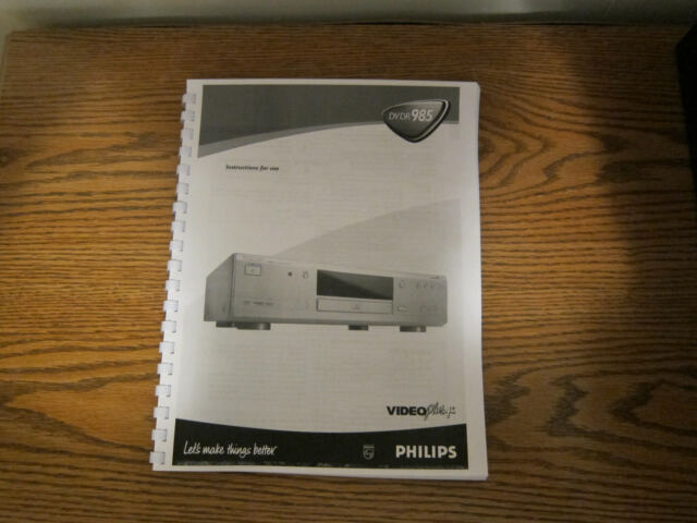 philips dvdr3510v dvd recorder ebay rh ebay com Zenith Video Disc Player Multiple Disc Blue Ray Player