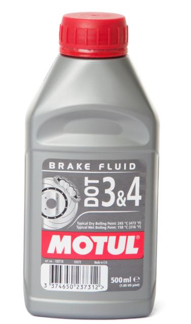 Motul DOT 3 & 4 Brake Fluid Car Motorcycle Quad ATV MX Enduro SCOOTER CHOPPER