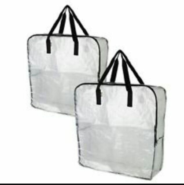 Captivating STRONG Large Clear/Transparent Plastic Zipped Storage Bags Saving Space By  IKEA