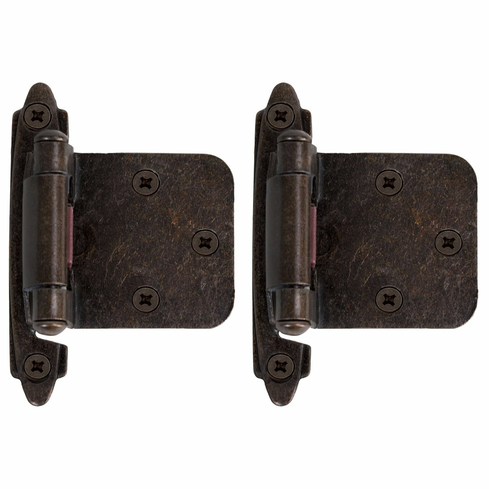 Kitchen Cabinet Hinges Self Closing Door Overlay Oil Rubbed Bronze Hardware  5 Pair Pack | EBay