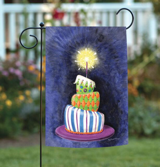 Toland Home Garden Sparkling Birthday Present Cake 125 X 18 Inch
