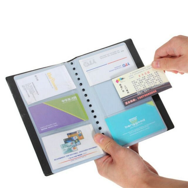 Business Card Holder Book Name Id Organizer Case Keeper 120 Cards New