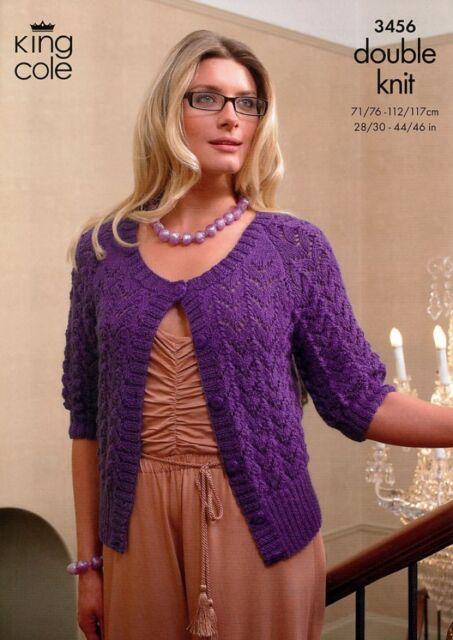 King Cole Ladies Cardigans Baby Alpaca Knitting Pattern 3456 Dk Kcp