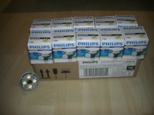 20 Philips Master LED 830 Spot 7W w.35W MR 16 GU5.3 24° 12V dimmbar Reflektorlam