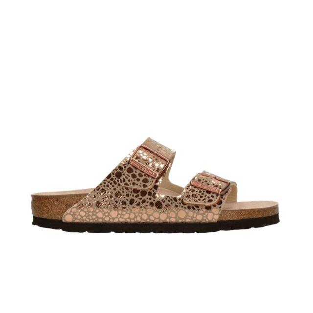 Birkenstock Arizona Sandali donna sandali 1006685 stretto pietra Rame NUOVO