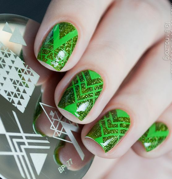 Newly Born Pretty Bp77 Negative Space Nail Art Stamping Template