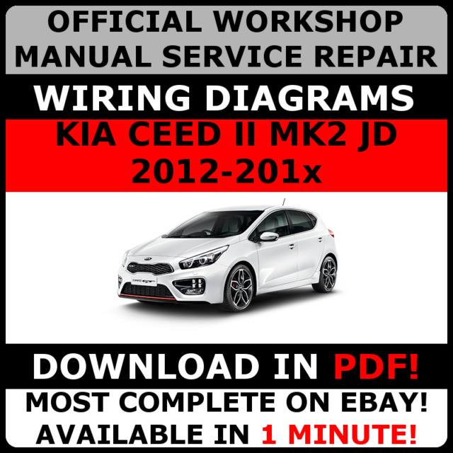 official workshop manual service repair for kia ceed ii mk2 jd 2012 rh ebay com workshop manual kia ceed service manual kia ceed
