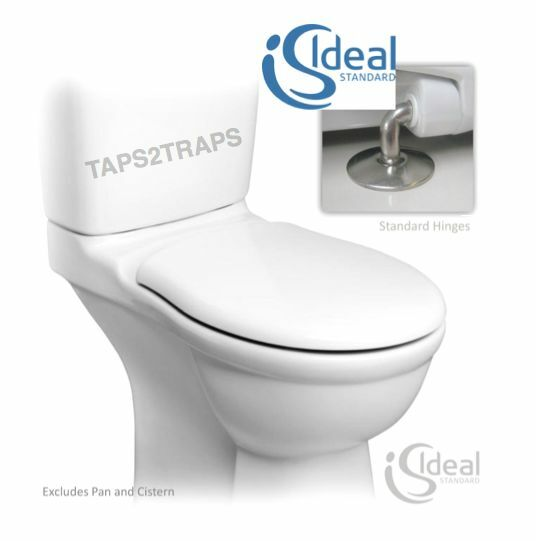 IDEAL STANDARD REPLACEMENT ALTO E759001 WHITE TOILET SEAT & COVER HINGE INCLUDED