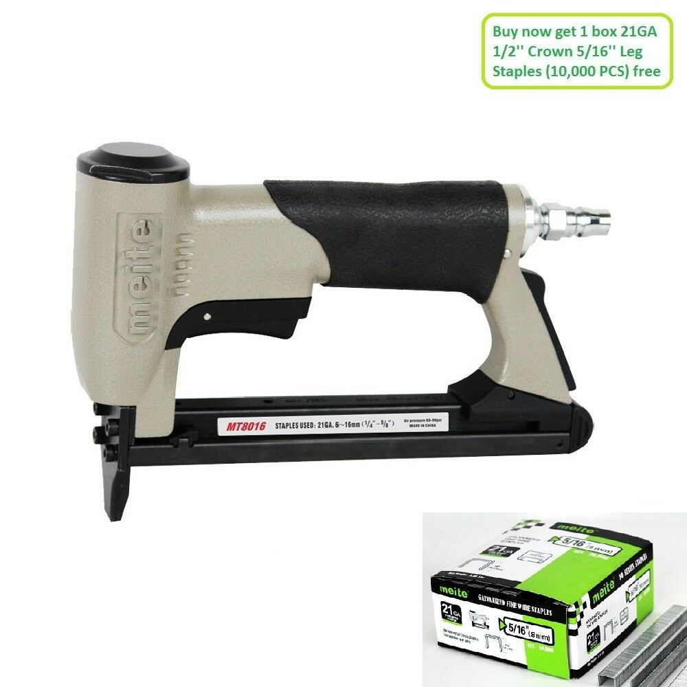 MEITE Mt8016 Upholstery Stapler 21 Gauge 80 Series 1/2 Crown Fine ...
