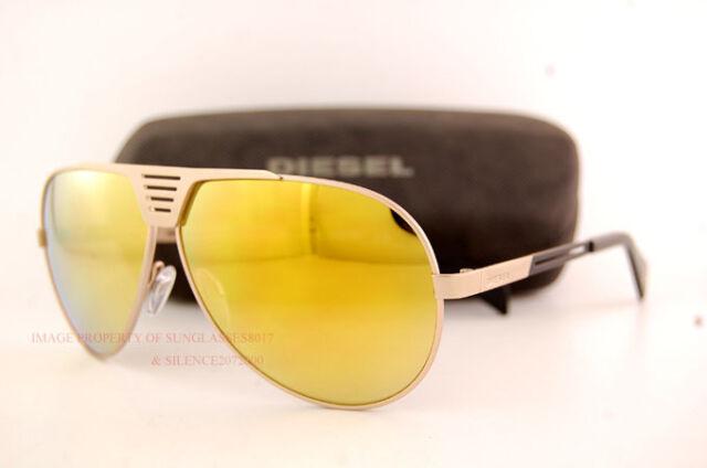 brand new diesel sunglasses dl 0134 color 28l dark goldgold mirror men women - Yellow Frame Sunglasses