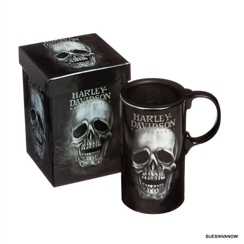 Harley Skull Travel Mug