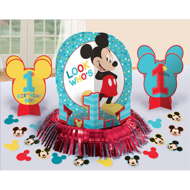 Baby Mickey Mouse 1st Birthday Party Table Decoration Kit