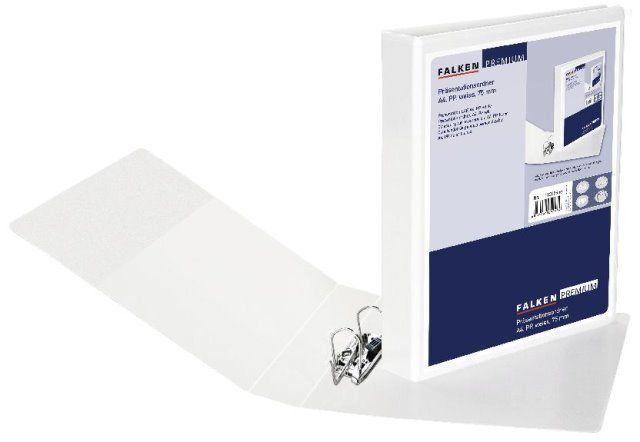 Falken Präsentations-Ordner DIN A4 aus Kunststoff mit Sichttasche Größe wählbar