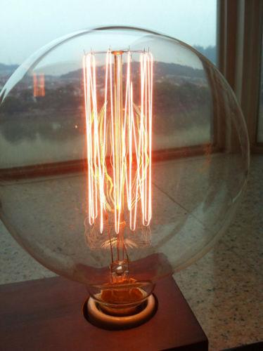 Vintage Vetro E27 Edison Licht Clear Birnen Lampen Glühlampen Ersatz 60W G125