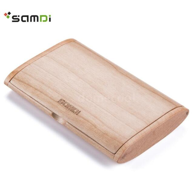 Samdi professional maple wood business card holder name cards case samdi professional maple wood business card holder name cards case e4a1 colourmoves