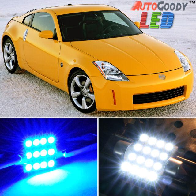 9 X Premium Blue Led Lights Interior Package Kit For Nissan 350z