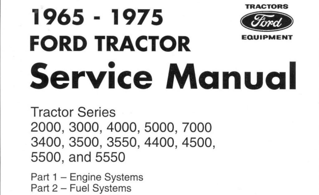 Ford 3000 Series Tractor Service Parts Catalog Owners Manual 5 ...