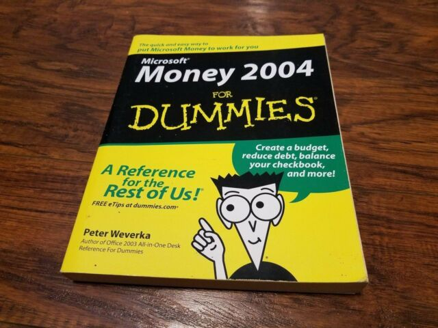 microsoft money 2004 for dummies by peter weverka 2003 paperback