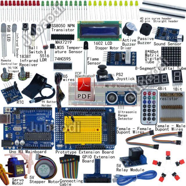 Uno r starter kit for arduino lcd servo ultrasonic